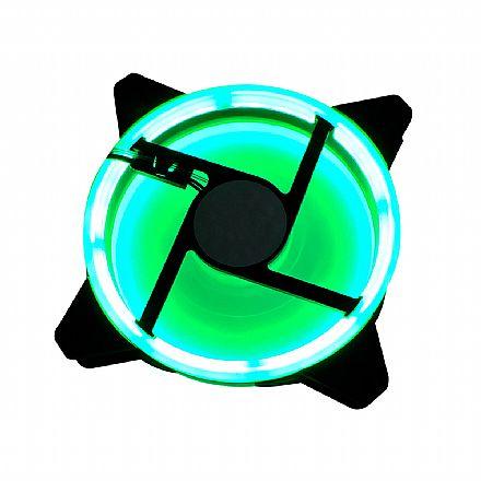 Cooler 120x120mm BPC - LED Duplo Verde - BPC-DL12-GREEN