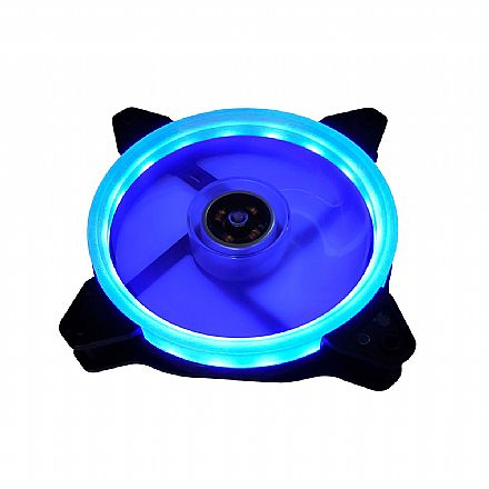 Cooler 120x120mm BPC - LED Duplo Azul - BPC-DL12-BLUE