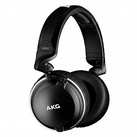 Fone de Ouvido AKG K182 - Conector 3.5mm e adaptador 6.3mm - Preto