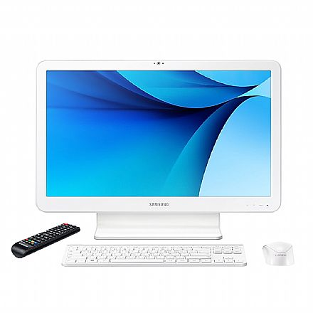 "Computador All In One Samsung E3 - Tela 21.5"" Full HD, Intel i3 7100U, 4GB, HD 500GB, TV Digital, Teclado e Mouse Sem Fio, Windows 10 - DP500A2M-KW3BR"