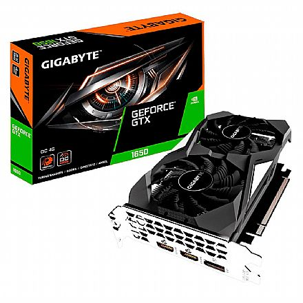 GeForce GTX 1650 4GB GDDR5 128bits - Windforce OC Edition - Gigabyte GV-N1650OC-4GD