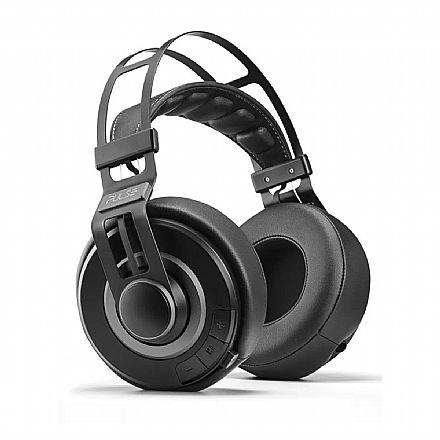 Fone de Ouvido Bluetooth Premium Large Pulse Multilaser - com Microfone - Cabo P2 3.5mm Removível - Preto - PH241