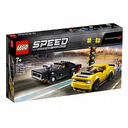 LEGO Speed Champions - Dodge SRT Demon 2018 e Dodge 1970 Charger - 75893