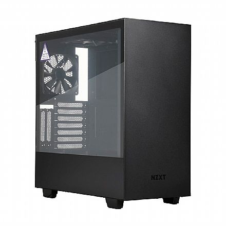 Gabinete NZXT H500 - Lateral em Vidro Temperado - USB 3.0 - Preto - CA-H500B
