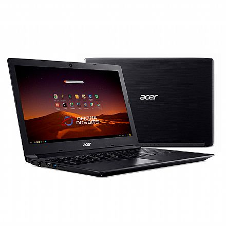 "Notebook Acer Aspire A315-53-5100 - Tela 15.6"" HD, Intel i5 7200U, 12GB, SSD 480GB, Linux - Preto"