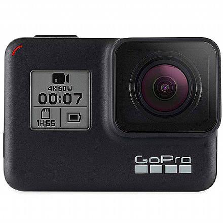 GoPro Hero 7 Black Edition - com Wi-Fi - 12 Mega Pixels com HDR - Gravação em 4K - Acompanha Cartão 32GB - CHDHX-701