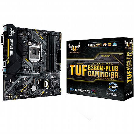 Asus TUF B360M-PLUS GAMING/BR (LGA 1151 - DDR4 2666) - Chipset Intel B360 - USB 3.1 Tipo C - Slot M.2 - Micro ATX