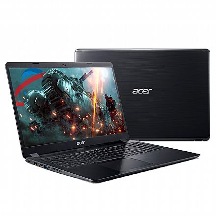 "Acer Aspire A515-52G-58LZ - Tela 15.6"" HD, Intel i5 8265U, 8GB, HD 1TB, Video GeForce MX130 2GB, Windows 10 - Preto"