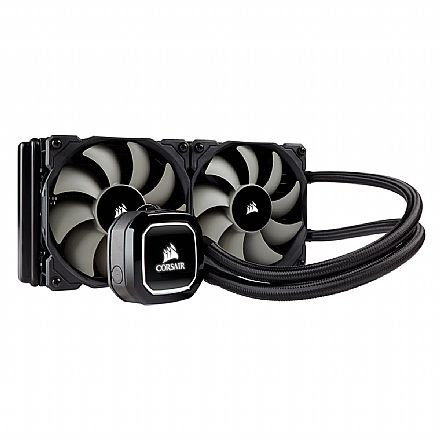 Water Cooler Corsair Hydro Series H100X - LED Branco - CW-9060040-WW