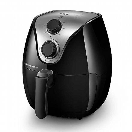 Fritadeira Elétrica Air Fry Gourmet - 127V - 1500W - Capacidade de 4 Litros - Preta - Multilaser CE021