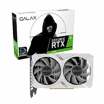 GeForce RTX 2070 8GB GDDR6 256bits - White Mini - 1-Click OC - Galax 27NSL6HPZ7MN