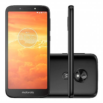 "Smartphone Motorola Moto E5 Play - Tela 5.6"" Max Vision, 16GB, Dual Chip 4G, Câmera 8MP e Flash Frontal, Leitor de Digital - Preto - XT1920-19"