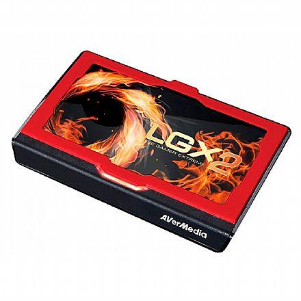 Captura de Video Live Gamer Extreme 2 AVerMedia GC551 - Resolução Ultra HD 4K - 60 FPS - HDMI - USB 3.1 Tipo C - Ideal para Gravar Jogos - Capa Personalizável - Compatível com Xbox / PS4 / Switch / PC