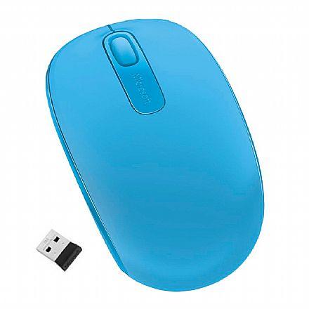 Mouse sem Fio Microsoft Mobile 1850 - Azul Turquesa - U7Z-00055