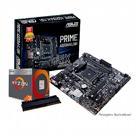 Kit AMD FX-8350 + Asus M5A78L-M PLUS/USB3 + Memória 8GB DDR3