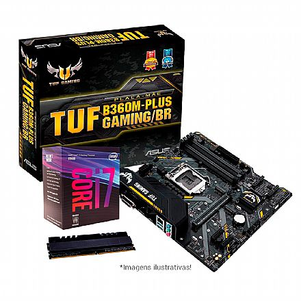 Kit Intel® Core™ i7 8700 + Asus TUF B360M-PLUS GAMING/BR + Memória 8GB DDR4