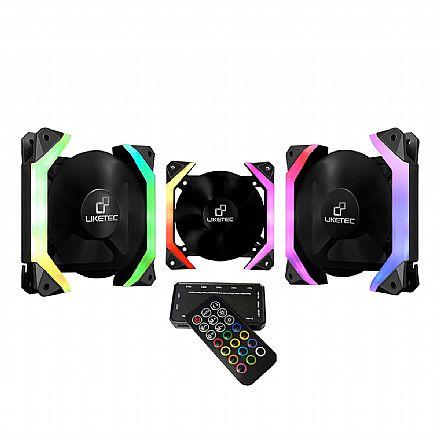 Kit Cooler RGB Liketec Fantom + Controlador com Controle Remoto - Formato Hexagonal