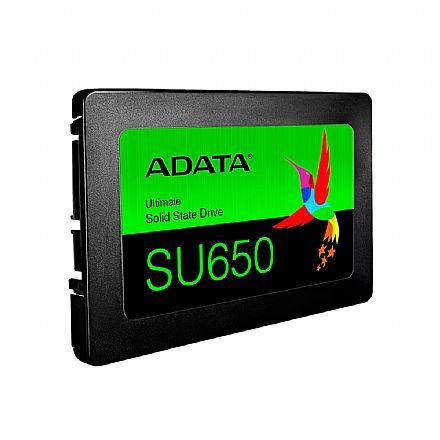SSD 120GB Adata SU650 - Leitura 520MB/s - SLC 3D NAND - 3 Anos de Garantia - ASU650SS-120GT-R