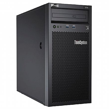Servidor Lenovo ThinkSystem ST50 - Intel Xeon E-2104G, 8GB, HD 1TB, DVD, USB 3.0, FreeDos - 7Y48A00LBR