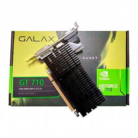 GeForce GT 710 1GB DDR3 64bits - Low Profile - Galax 71GGF4DC00WG