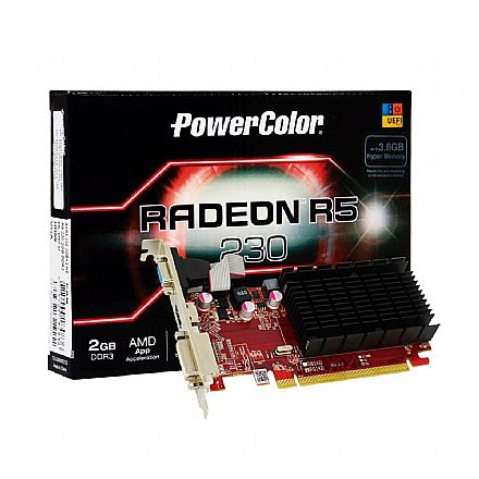 AMD Radeon R5 230 1GB 64bits - Power Color AXR 230 1GBK3-SHE