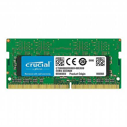 Memória SODIMM 4GB DDR4 2666MHz Crucial - para Notebook - Low Voltage 1.2v - CT4G4SFS8266