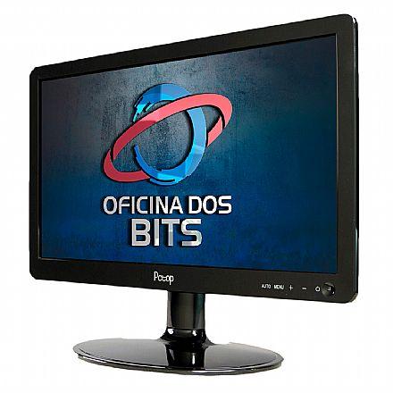 """Monitor 15.6"""" PCTop MLP156HDMI - HD - 5ms - Furação VESA - HDMI/VGA"""