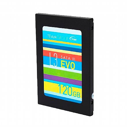 SSD 120GB Team Group L3 Evo - Leitura 530MB/s - T253LE120GTC101