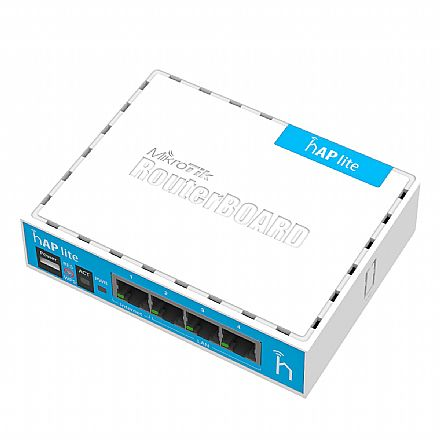 Roteador Wi-Fi Mikrotik hAP - 4 portas LAN - RB941-2ND