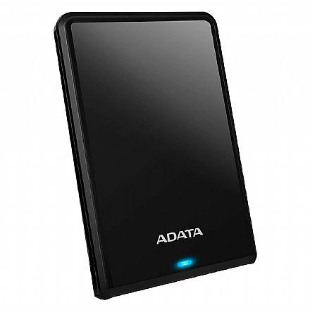 HD Externo Portátil 1TB Adata HV620S - Design Slim - USB 3.1 - Preto - AHV620S-1TU31-CBK