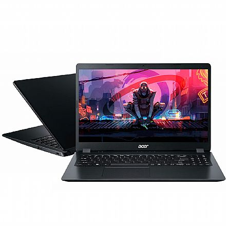 "Notebook Acer Aspire A315-41-R790 - Tela 15.6"" HD, Ryzen 3 2200U, 12GB, SSD 240GB, Radeon™ Vega 3, Windows 10 - Preto"