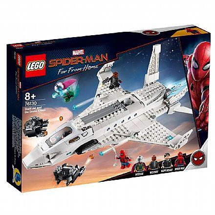 LEGO Marvel - Homem-Aranha: Longe de Casa - O Aviao a Jato de Stark e o Ataque do Drone - 76130
