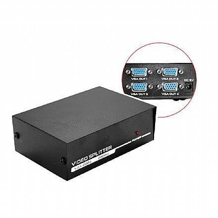 Multiplicador de Vídeo - Vídeo Splitter - 4 saídas VGA - HUB0043