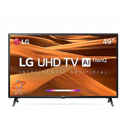 """TV 49"""" LG 49UM7300PSA - Smart TV - 4K Ultra HD - Contraste HDR Ativo - Inteligência Artificial ThinQ AI - WebOS 4.5 - Wi-Fi e Bluetooth Integrado - HDMI/USB"""