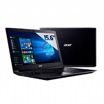 "Notebook Acer Aspire A315-53-55DD - Tela 15.6"" HD, Intel i5 7200U, 12GB, SSD 480GB, Windows 10 - Preto"