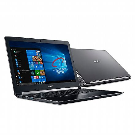 "Notebook Acer Aspire A515-51-75RV - Tela 15.6"" HD, Intel i7 7500U, 20GB, SSD 480GB, Windows 10"