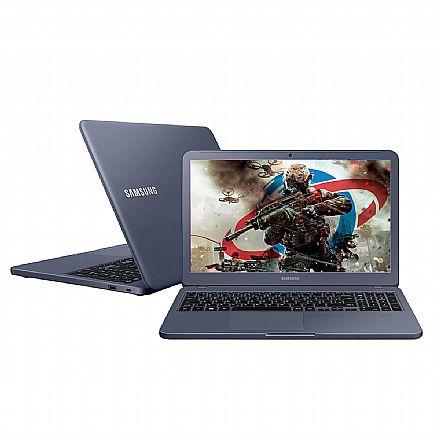 "Notebook Samsung Expert X40 - Tela 15.6"" HD, Intel i5 8265U, 8GB DDR4, HD 1TB, GeForce MX110 2GB, Windows 10 - Titanium Metálico - NP350XBE-XD1BR"