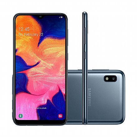 "Smartphone Samsung Galaxy A10 - Tela 6.2"" HD+, 32GB, Dual Chip 4G, Câmera 13MP - Preto - SM-A105M/32DL"