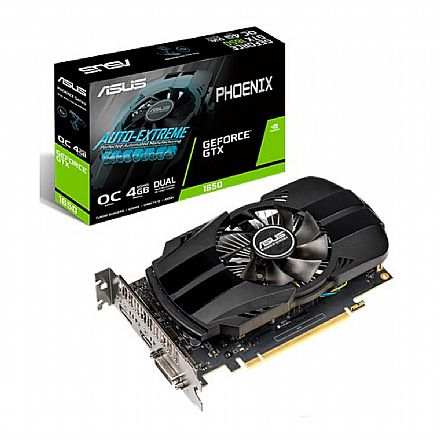 GeForce GTX 1650 4GB GDDR5 128bits - Phoenix - Asus PH-GTX1650-O4G