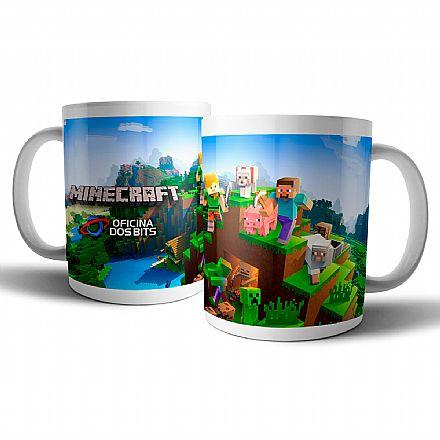 Caneca de porcelana - Minecraft - Oficina dos Bits
