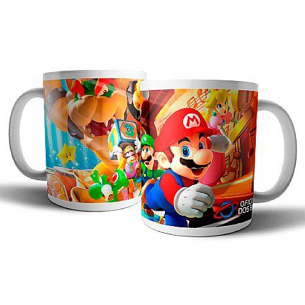 Caneca de porcelana - Mario Party - Oficina dos Bits
