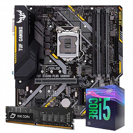 Kit Upgrade Intel® Core™ i5 9400F + TUF B360M-PLUS GAMING/BR + Memória 8GB DDR4