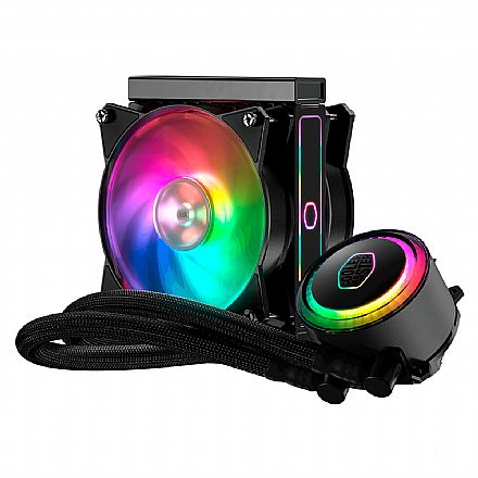 Water Cooler Cooler Master MasterLiquid ML120RS - (AMD / Intel) - com LED RGB - MLX-S12M-A20PC-R1
