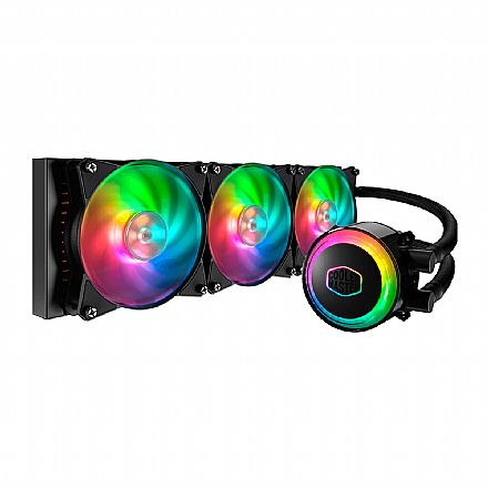 Water Cooler Cooler Master MasterLiquid ML360R - (AMD / Intel) - com LED RGB - MLX-D36M-A20PC-R1