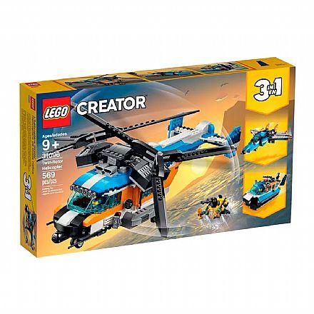 LEGO Creator - Modelo 3 Em 1: Helicóptero de Duas Hélices - 31096