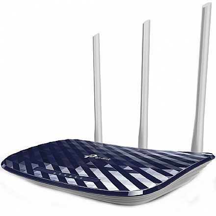 Roteador Wi-Fi TP-Link Archer C20 AC750 Versão 5.0 - Dual Band 2.4 GHz e 5 GHz - 3 Antenas