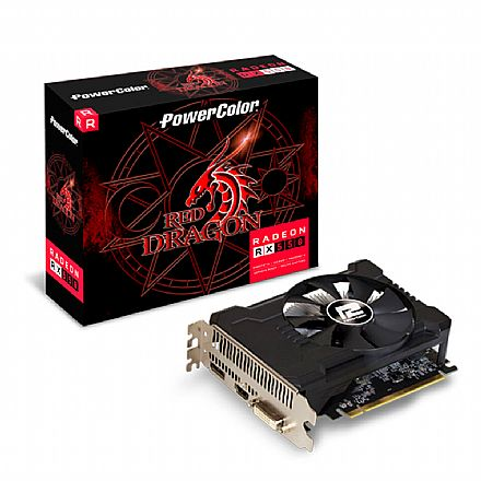 AMD Radeon RX 550 4GB GDDR5 128bits - PowerColor 4GBD5-DHA/OC