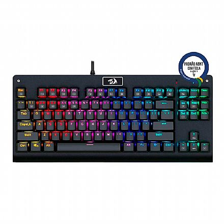 Teclado Mecânico Redragon Dark Avenger - RGB - Switch Outemu Brown - K568RGB - ABNT2