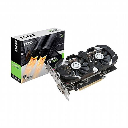GeForce GTX 1050 Ti 4GB GDDR5 128bits - MSI 912-V809-3051