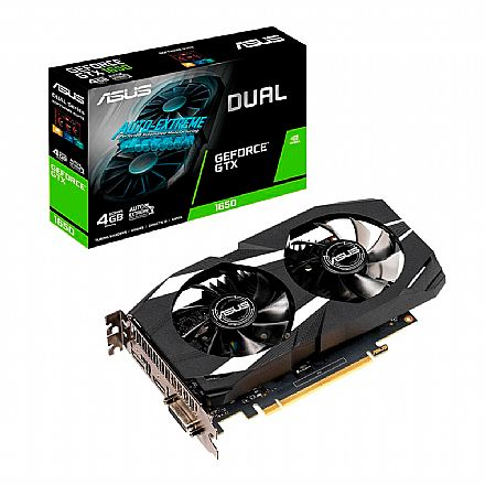 GeForce GTX 1650 4GB GDDR5 128bits - OC Edition - Asus DUAL-GTX1650-O4G